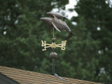 A Mother and Baby Humpback Whale Weather Vane on a Roof Top