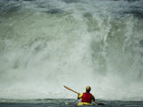 A Kayaker Faces a Waterfall on the Youghiogheny River