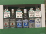 Bottles of Vodka Sold from a Street Kiosk
