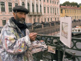An Artist Paints a Street Scene