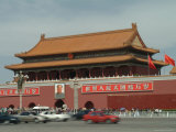 Traffic Blurs by Tiananmen Square