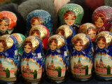 Nesting Dolls are Sold in a Gift Shop
