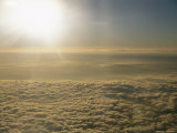 Above the Cloud Deck in a Commercial Airplane