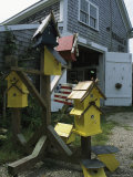 Bird Houses for Sale Outside a Barn
