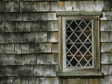 Window and Shingled Side of the American Hoxie House  Circa 1665