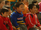 Children Watch a Performance at Beijings Cultural Ethnic Park