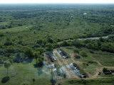 Aerial View of Charcoal Making Kilns in the Pantanal Region
