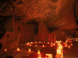 Luminarias Light up the Anasazi Spruce Tree House Dwelling