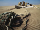 Debris from a Shipwreck Lies in the Sands of Sable Island