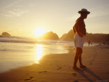 A Man in a Brimmed Hat on Zipolite Beach; Zipolite Means Beach of the Dead in Zapotec