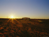 A View of Ayers Rock at Sunset