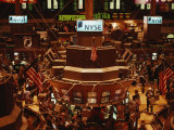 The Trading Floor of the New York Stock Exchange on Wall Street