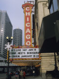 The Marquee and Sign of the Historic Chicago Theater