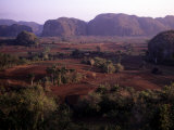 Mogotes Surround the Valley Floor and the Tobacco Farms  Vinales Valley  Cuba