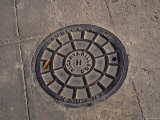 A Manhole Cover in Communist Havana  Cuba