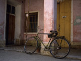 A Chinese Made Flying Pigeon Bike Sits in Front of an Old Building  Trinidad  Cuba