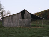 A Weathered Barn in a Farmers Field