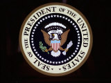 The Official Seal of the President on the Presidential Helicopter