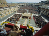 Pope John Paul II Celebrates Easter Sunday Mass  Piazza San Pietro  Vatican City