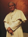 Portrait of Pope John Paul II  Rome  Italy