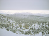 Snow Covers the Desert and Mountains near Pioche  Nevada