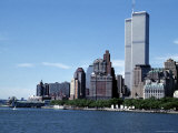 The New York City Skyline Before September 11  2001  Manhattan  New York City  NY  United States