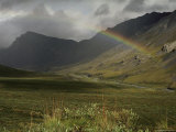 Rainbow over the Sheenjek River Valley  Arctic National Wildlife Refuge  Alaska