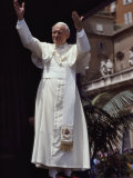 Pope John Paul II Blesses an Audience in St Peter's Square  Vatican City