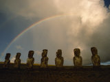 Double Rainbow Arches over Seven Ancient Statues  Ahu Akivi  Easter Island