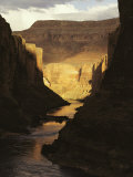 The Colorado River Flows Through the Grand Canyon  Arizona