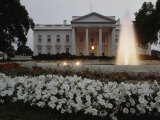 North Side of the White House at Twilight  Washington DC