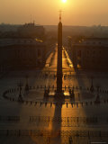 Sunrise over the Obelisk in St Peter&#39;s Square  Vatican City