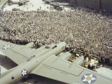 Boeing Workers Gather to Hear a Pilot Recount an Air Battle  Seattle  Washington