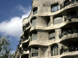 Gaudi Designed Apartment Building in Barcelona  Casa Mila  Barcelona  Spain  Europe