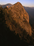Moro Rock at Sunset in Sequoia National Park  California
