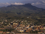 Town of Trinidad  Colorado with Fisher Peak in Background