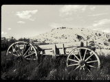 Old Wood Wagon near Mining Ghost Town at Bannack State Park  Montana  USA