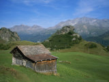 A Rustic Mountain Hut High in the Swiss Alps Near St Moritz