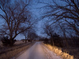 A Gravel Road Leads up to Historical Steven's Creek Farm in Nebraska