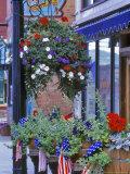 Flags and Flowers  Philipsburg  Montana  USA