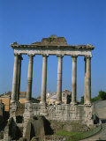 The Ruins of the Temple of Saturn in the Roman Forum