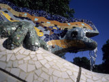 Antoni Gaudi was First to Use Recycled Construction Waste in Works  Parc Guell  Barcelona  Spain