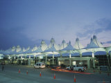 The Denver Airport Arrival Area at Dusk