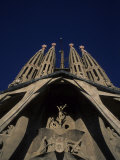 The Church of the Holy Family Sagrada Familia in Barcelona  Spain
