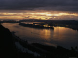 Columbia River Gorge from Crown Point on the South Side of the Columbia River  Portland  Oregon