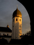 The Tradiotional Onion Dome Shape of the Tower at the Convent's Chapel  Fraueninsel  Germany