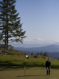 A Man Golfs in February in British Columbia