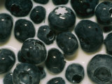 Fresh Blueberries in Milk