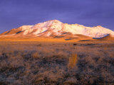 Winter Sunrise on Bloody Run Peak  Great Basin  Nevada  USA