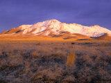 Winter Sunrise on Bloody Run Peak  Great Basin  Nevada  USA